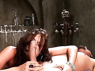 Beautiful Mummy Gets Rid Of Her Corset To Expose Udders Before Railing Dick