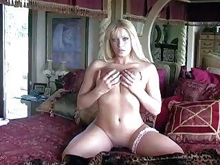 Naked Youthful Blonde Newlywed Christina With Stunning Blue Eyes And