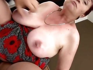 Hairy Huge-boobed Granny Gets Wild Romp With Son-in-law