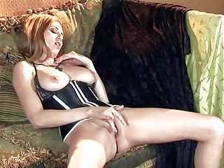 Hot Bodied Woman Jamie Lynn In Taut Corset Shows Off