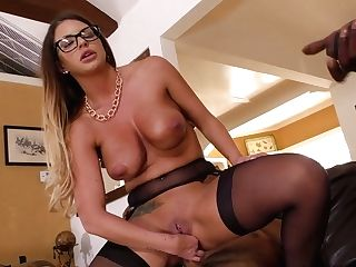 Geek Cheating Strokes Off Dick While Black Dudes Fuck Gorgeous Mummy Brooklyn Chase