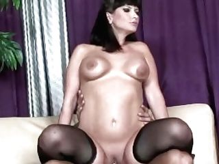 Big Booty Dark Haired With Stockings Fucked Rear End Style Intensely