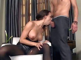 Ideal Boobed Dark Haired Chanel Preston Bares Her Knockers And Gives