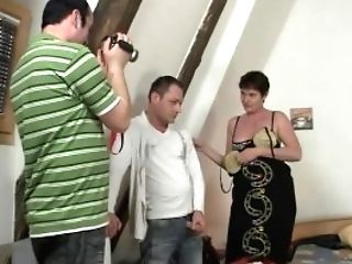 They Film Threesome With Old Granny