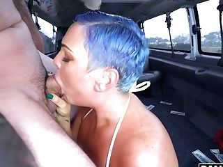 Voluptuous Blue Eyed Nymphomaniac Kaden Kole Gets Fucked Rear End In The Van