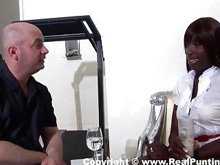 Melvina Meets Customer At Motel With Melvina Raquel