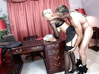 Hungarian Blonde Office Mega-bitch Helena Sweet Gets Analfucked After Meeting