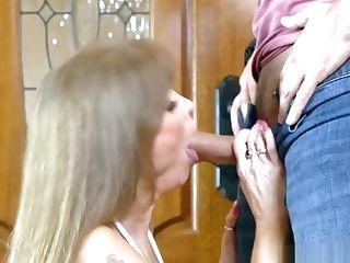 Horny Cougar Likes His Big Dick