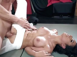 Lengthy Dick Man Is Fucking A Pornographic Star In Crotchless Pants. Hd - Johnny Sins And Tia Cyrus