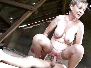Hot Blonde Granny Sanny Fucks Her House Boy Grandmams.com
