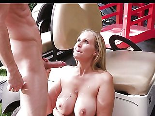 Giant Titted Rich Bitch Julia Ann Gets Her Meaty Cunt Munched By Golf Dude