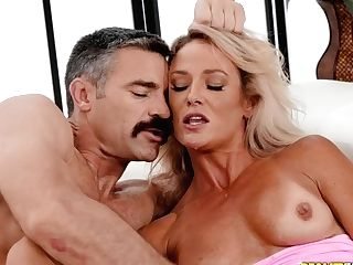 Well-dangled Dude Fucks Three Raw Slots Of A Hot Blonde