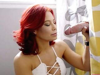 Experienced Mummy Instructs Kinky Stepdaughter Alexis Tae How To Deep-throat Bf's Dick