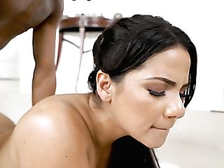 Wonderful Bootylicious Rose Monroe Works On Supah Lengthy Big Black Cock Well