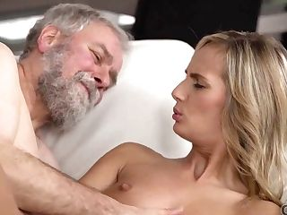 Old4k. Hot Tea And Sensuous Pornography Is How Teenager Embarks Day With Senior Spouse