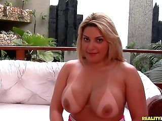 Sexy Vamp Patricia Castro With Tanlined Big Caboose And Sweet