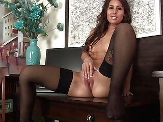 Supah Hot Cougar In Black Stockings