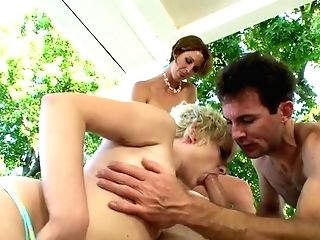 Dirty Four Way With Bosomy Fucksluts And Bisexual Weird Guys