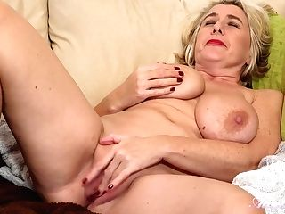 Gilf Mom Camilla Plays With Her Big Saggy Fun Bags And Old Cunt