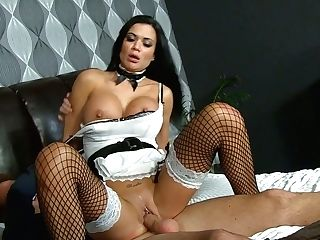 Trampy Maid In Sexy Uniform Jasmine Jae Gets Her Humid Labia Slammed Hard