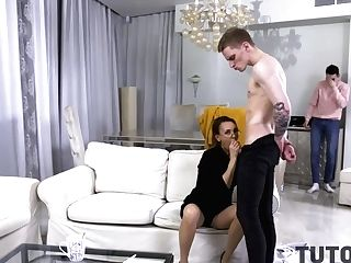 Tutor4k. Geometry Tutor Has An Affair With Disciple In Front Of