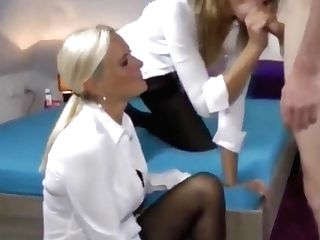 Two Very Hot Mummies Fucking Hard One Lucky Youthful Stundent